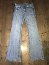 "Seven 7 Jeans Slim Bootcut Faded Distressed Größe 29 UK 10 - 12 33"" Bein"