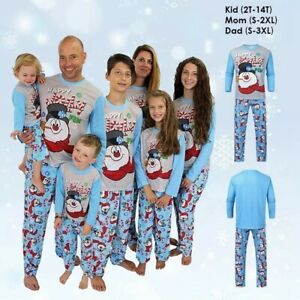 Adults Kids Family Matching Christmas Pyjamas Xmas Nightwear Sleepwear PJs Set
