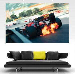 Classic Ferrari F1 GIANT Wall Art POSTER PRINT ART in ONE PIECE