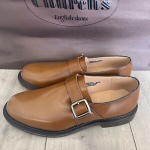 Church's Sandalwood Calf Leather WREXHAM Single Buckle shoes Size 9G UK Wide Fit