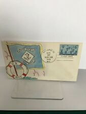 S3 WWII US Navy First Day Cover Hand Painted October 27, 1945 Annapolis Maryland