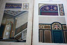 Maler Dekorateur Innenarchitekt - Ornamentik Barock Stil  ca.1910 A. Peerboom -Y
