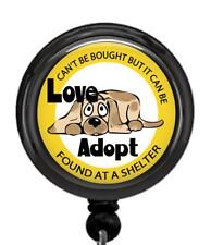 Adopt Love Pets Shelter Id Badge Reel Retractable Work Id Holder Volunteer Dog