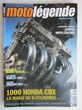 MOTO LEGENDE N°137 /HONDA 1000 CBX /VINCENT-EGLI/HARLEY XRTT +supplément