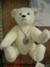 STEIFF  CLUB USA BEAUTIFUL  WHITE MOHAIR  MARGARET TEDDY BEAR MIB NEW
