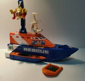 1997 Matchbox Mega-Rig Rescue Squad Speedboat with diver