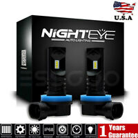 Nighteye H11 H8 H9 LED Fog Light Bulbs 160W Driving Lamp DRL 6500K High Power