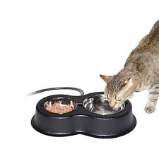 Heated Cat Feeding bowl Outdoor Indoor Thermal Hot food Supplies Cold Stray Pet