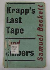 Samuel Beckett Krapp's Last Tape & Embers 1959 Play London  1st English Ed