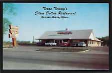 Texas Tommy's Silver Dollar Restaurant Downers Grove Illinois IL cars postcard