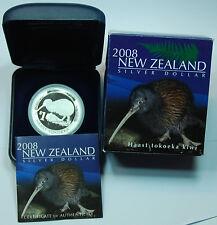 1 DOLLAR KIWI 2008 PP  1 OZ Silber Polierte Platte  PP  Proof  mintage 5000