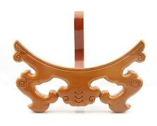 Peach Wood Wooden Plate Easel Display Holder Stand Round Disk Award Rack