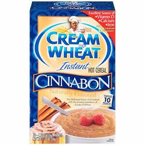 Cream of Wheat Instant Hot Cereal, Cinnabon, 1.23 Ounce, 10 Packets 10