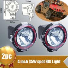 """2PC 35W 12V 4"""" HID Work Light 6000K H3 Bulb Spot UTE ATV Offroad Boat Fog lamp"""