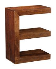 Living Room Furniture Dakota Dark Mango Solid E Shape Side Table (78n)