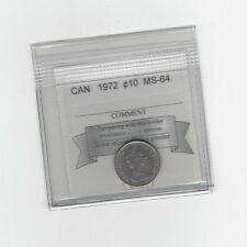 **1972**, Coin Mart  Graded Canadian,  10  Cent, **MS-64**