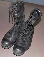 Used Altama Black Leather Military Combat Boots sz 8R Punk