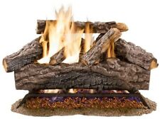 18 in. Natural Gas Fireplace Log Set Vented Charred Decorative Fire Logs Insert