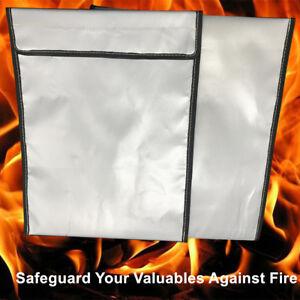 Fireproof Safe Bag Fire proof Resistant Pouch Cash Documents Passbook Storage