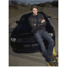 Knight Rider Justin Bruening as Mike Traceur Sitting on Hood 8 x 10 inch photo