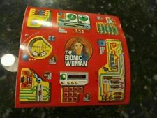 VINTAGE 1974 STICKERS SHEET BIONIC WOMAN Kenner JAIME SOMMERS