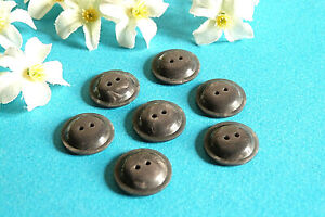 """823B Stunning Buttons """" Comet """" Grey Iridescent Lot 7 Buttons Period Vintage"""