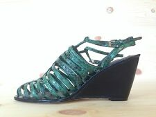 OPENING CEREMONY BURNING MAN AYERS GREEN PLATFORM WEDGE SANDALS MSRP 540 SIZE 36