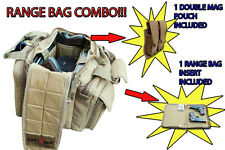 Ultimate Deluxe Tactical TAN Range Bag + 1 Double Mag Pouch + 1 Gun Cover