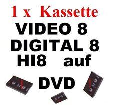 1 x VHS-C Video 8, Hi8, MiniDV, D8, auf DVD digitalisieren Überspielen Kopieren