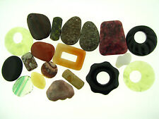 Destash Huge Collection Mixed Exotic Gemstone Pendants Focals Must See Lot A