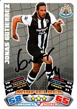 Newcastle United F.c Jonas Gutierrez mano firmado 11/12 Match Attax.