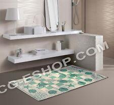 PAR ALFOMBRAS MARINO MAR cm 65x110 cocina dormitorio entrada baño VERDE