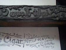 Antique ornate carved printers block LIGHTHOUSE CIGAR