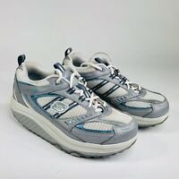 Skechers Shape Ups Womens Size 7.5 White Silver Rocker Walking Toning Shoe 11814