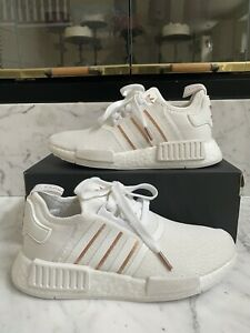 Size 8 - adidas NMD R1 White Rose Gold Metallic FREE SHIPPING