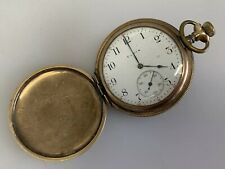 Antique 14 kt Gold-Filled Pocket Watch Elgin  Hunter Case 15 Jewels