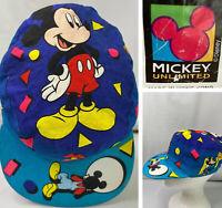 Vintage Disney Mickey Unlimited Hat Conductor Style Cap Retro 80s 90s RARE