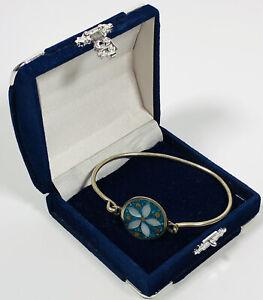 Vintage Bracelet Alpaca Mexico Silver Tone & Mother of Pearl Elegant Dainty Gift
