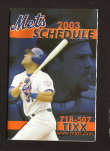 New York Mets--Mike Piazza--2003 Pocket Schedule--Manchester Equipment