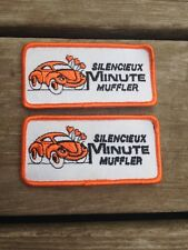 Vintage Embroidered Silencieux Minute Muffler Patches Vw Bug Volkswagen