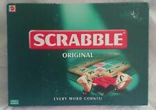 SCRABBLE ORIGINAL BOARDGAME 1999 MATTEL COMPLETE CHECKED VGC