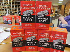 Home Canners Mason Jar Caps 1950's-60's? 6 Boxes of 1 Dozen Caps Without Gaskets