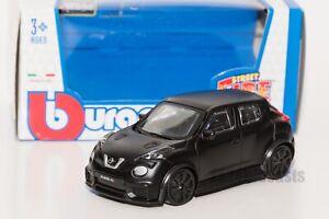 Nissan Juke R Matt Black, Bburago 18-30136, scale 1:43, toy car model gift boy