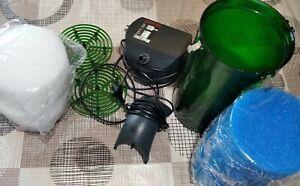 Eheim 2213  Außenfilter Filterflies und  Sauerstoffpumpe