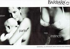 Publicité Advertising 088  1997  soutien gorge Barbara D. Issermann (2pag) sous