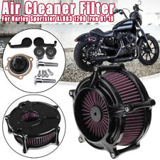 Turbine Air Intake Filter Cleaner For Harley Sportster XL883 1200 Iron 91-19 18