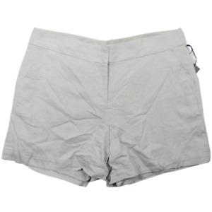 NWT Madison Gray Linen Blend Shorts Women's Curvy Size 18W