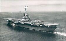 Postcard Sized Photo American Essex Class Aircraft Carrier USS Bennington