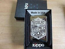 Zippo Gasoline Motor Oil Since 1932 hot rod rockabilly vintage US Cars Bikes New