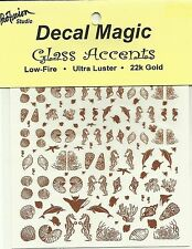 Glass Fusing 22K Gold Decals SEA LIFE  Low Fire Decal Magic Fusing Supplies